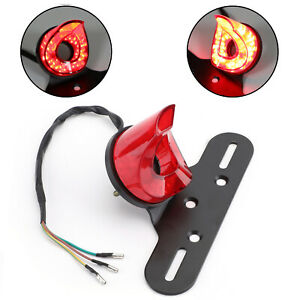 Moto-Universel-Support-Plaque-D-039-Immatriculation-Led-Avec-Fuex-Arriere-Rouge