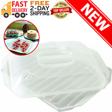"* Set of 2 7/"" and 9/"" For Kitchen Microwave Cooking Covers * Splatter Guard"