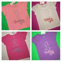 1st 2nd 3rd 4th Birthday Girls Shirts 12-18 Months 2t 3t 4t 5t Pastel Gift