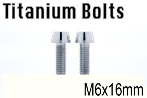 US Seller x2 Titanium Ti Bolt M6x16mm Taper Hex Allen M6 16L Bicycle Screw