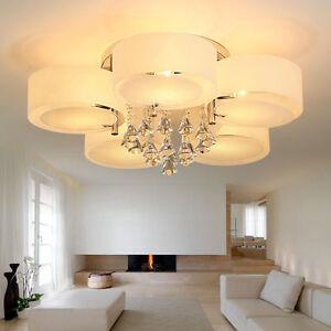Image Is Loading Crystal Ceiling Light Chandelier Modern 3 5 7