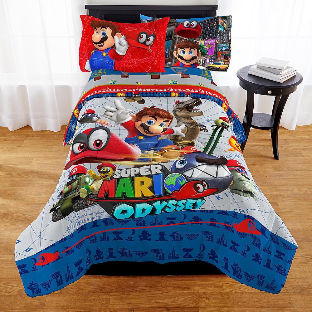 KIDS GIRLS BOYS SUPER MARIO BED IN A BAG   COMFORTER SET- 2 PRINTS