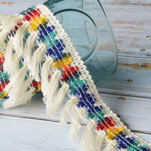 2 Yards Cotton Trim Tassel Fringe Lace Cream Lace Ribbon DIY Sewing Upholstery