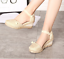 thumbnail 3 - Roman-Womens-Wedge-Mid-Heels-Strappy-Linen-Sandals-Pointy-Toe-Casual-Retro-Shoes