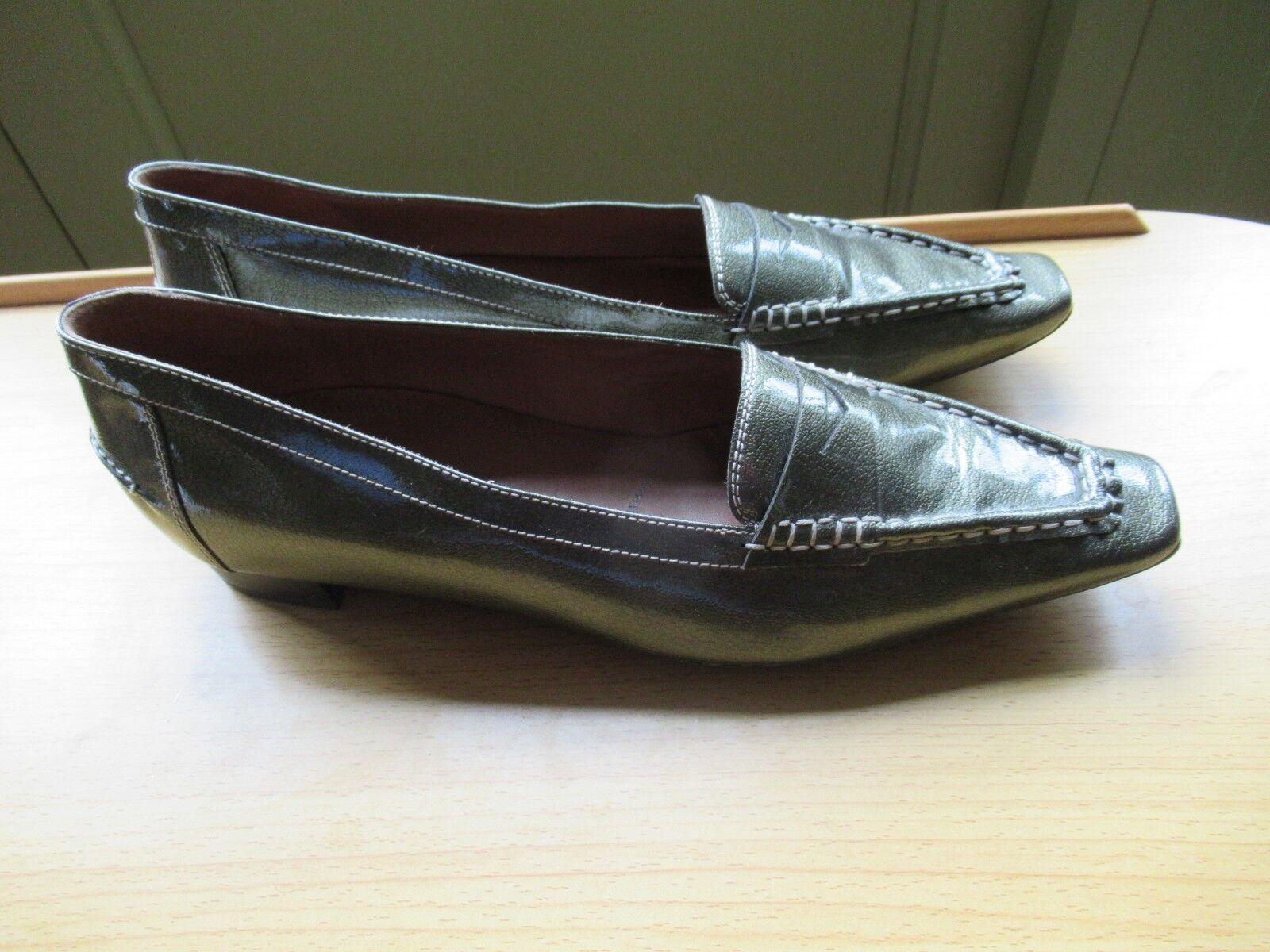 NOUVEAU  HOGL Softline Super Qualité Styish Vert Métallique Chaussures Cuir Taille UK 8