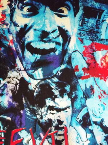 Evil Dead Bruce Campbell rare METALLIC FOIL PRINT 11x17