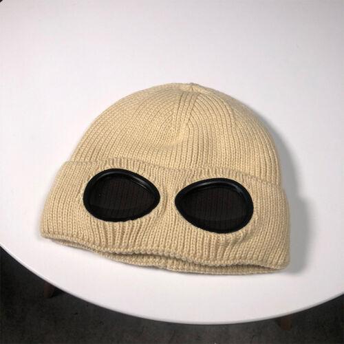 Femmes Tricoté Chapeau Bonnet Lunettes Hip hop Couleur Pure Peluche Coton Chaud