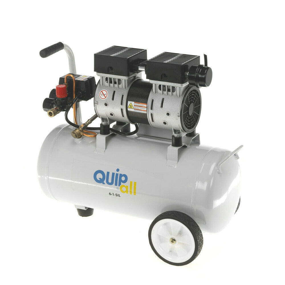 Quipall 1 HP 6.3 Gal. Oil-Free Wheelbarrow Air Compressor 6-1-SIL New. Available Now for 150.10
