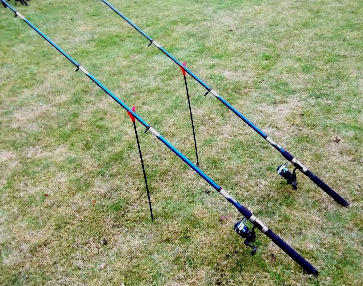 2 canne da pesca 3,00m 2 Angel ruoli filo pesca trossoa spigola trossoe canne