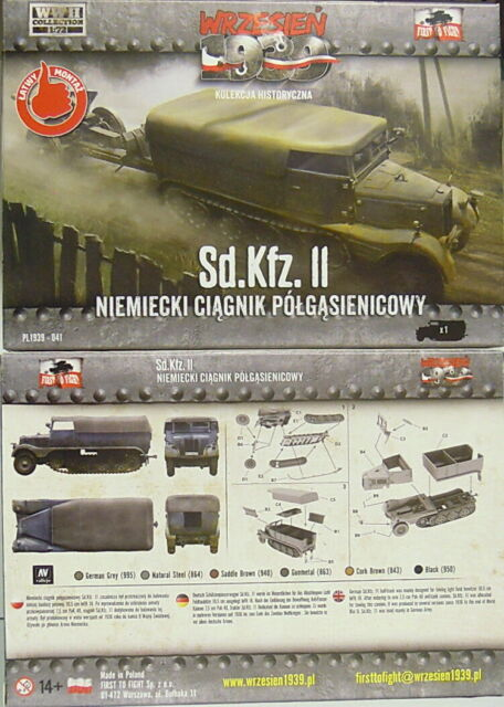 Sd.Kfz.11 Lights Zugkraftwagen 3t, First to fight , 1/72, Plastic, New