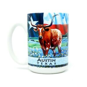 Austin-Texas-Pride-Longhorn-Blue-Bonnets-Cuppa-Mug-15-Oz-Coffee-Tea-Cup-Mug