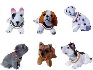 bobblehead dog wobbling sausage dog push toy pug terrier beagle