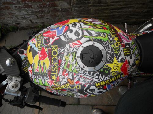 Bubble Free Vinyl Energy Drink Foile Stickerbomb Car /& Bike Wrap 152 x 70cm