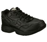 76555 Ew Wide Width Black Skechers Shoes Women's Work Memory Foam Slip Resistant