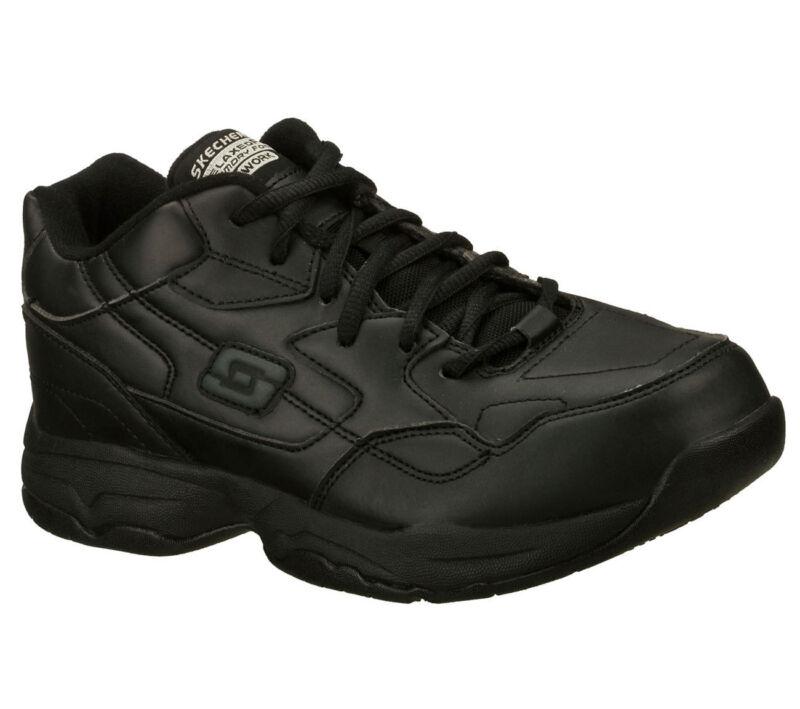 76555 Black Skechers Shoes Women Work Memory Foam Slip Resistant Comfort Casual
