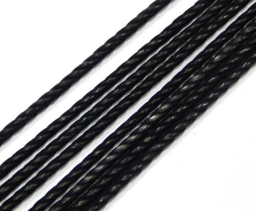 alrededor de joyas hilos c278 1 metros de algodón collar negro 4mm geflochtet aterciopelado