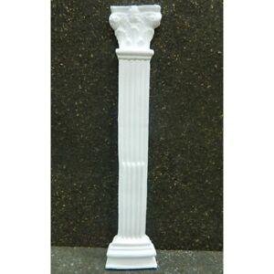 Mezza Colonna Corinzia in Gesso Cm 2x6x30h Capitello Tempio Pastori Presepe