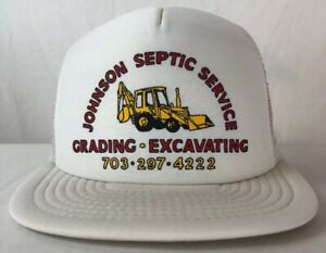 VINTAGE-SNAPBACK-Mesh-JOHNSON-SEPTIC-SERVICES-TRUCKER-FARMER