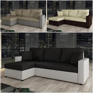 ecksofa nestor mit schlaffunktion und bettkasten eckcouch couch modern sofa neu ebay. Black Bedroom Furniture Sets. Home Design Ideas