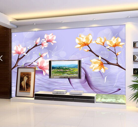 3D Flowers Branches Painting Paper Wall Print Wall Decal Wall Deco Indoor Murals