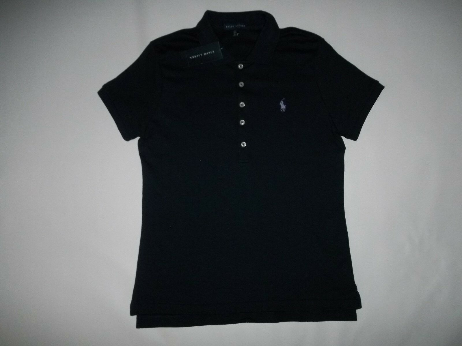 RALPH LAUREN Polo Logo Pony Soft Touch Cotton POLO SHIRT Womens L   LARGE  NEW