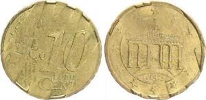 Alemania 10 Céntimos 2002D Probe Vorentwurf Con Radial Ausgerichteten Estrellas