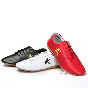 Soft-Cow-Leather-Kung-fu-Tai-chi-Shoes-Martial-arts-Wushu-Sports-Sneakers