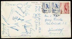 S1674-futbol-WM-1962-en-chile-ak-autografiada-mapa-de-los-alemanes-National-jugadores