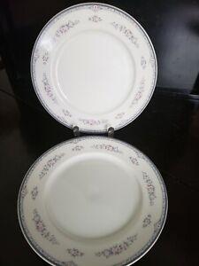 "2 MIKASA FINE CHINA TEA ROSE PATTERN L5577 SALAD PLATE MADE IN JAPAN 8 1/4"""