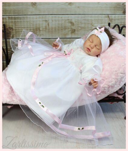 SALE/% Taufkleid ♥MIA♥ mit STIRNBAND Prinzessin Babykleid Schleppe Taufe 68,74