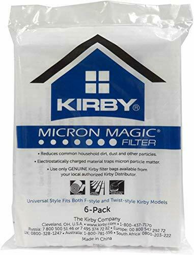 6 Pack, Kirby Allergen Reduction Filters, Vacuum Cleaner Universal Bags, White
