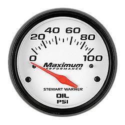 Stewart Warner 114256 Maximum Performance Series Analog Oil pressure Gauge