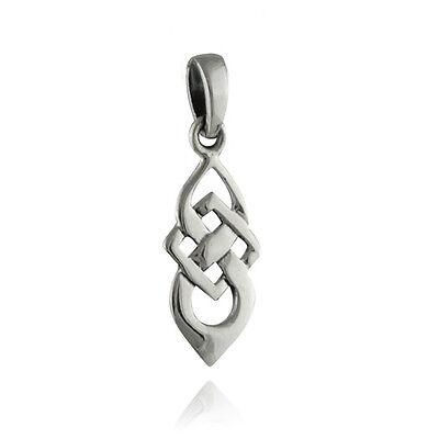 Celtic Knot Pendant - 925 Sterling Silver - Irish Gaelic Dainty Weave Small NEW