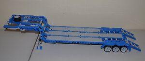 LEGO-TECHNIC-BLUE-GRAY-MOC-CUSTOM-FLATBED-TRAILER-25-034-Long