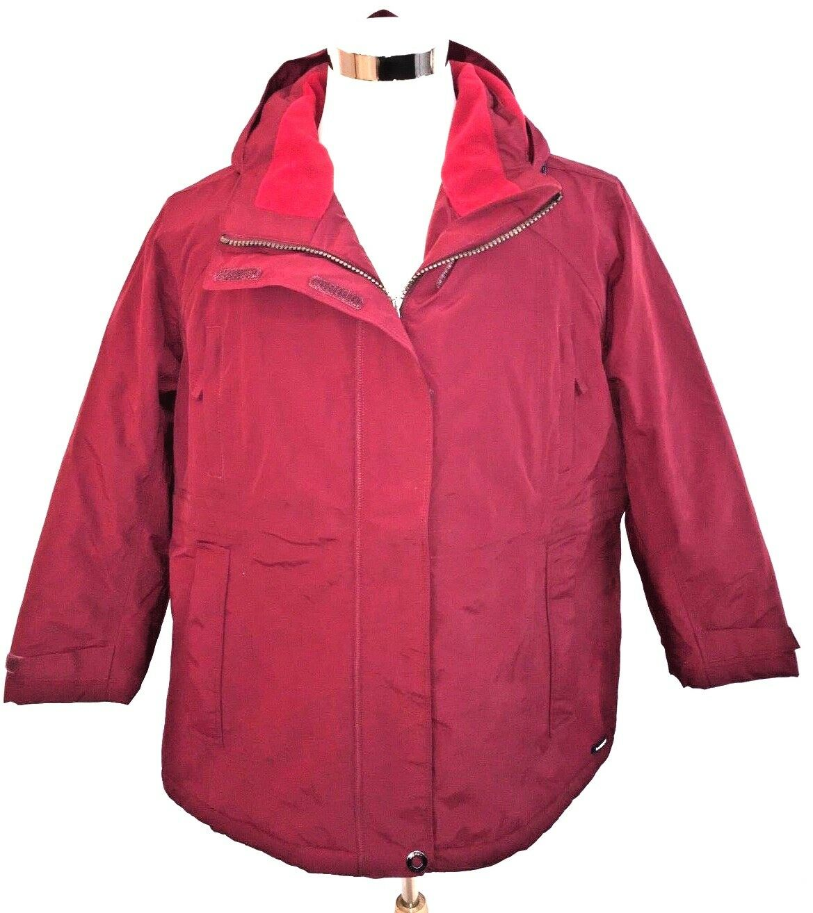 c464ab5e7d Lands  End Women s Red Plus Plus Plus Size Squall Insulated Parka Coat Size  1X 16W-18W NWT 049791