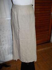 Jupe longue 100% lin beige SARAH PACINI size 2 38/40 fendue sur les cotés