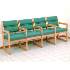 Wooden Mallet Valley Four Seat Chair w/Center Arms-Light Oak- DW1-4LOFG Chair