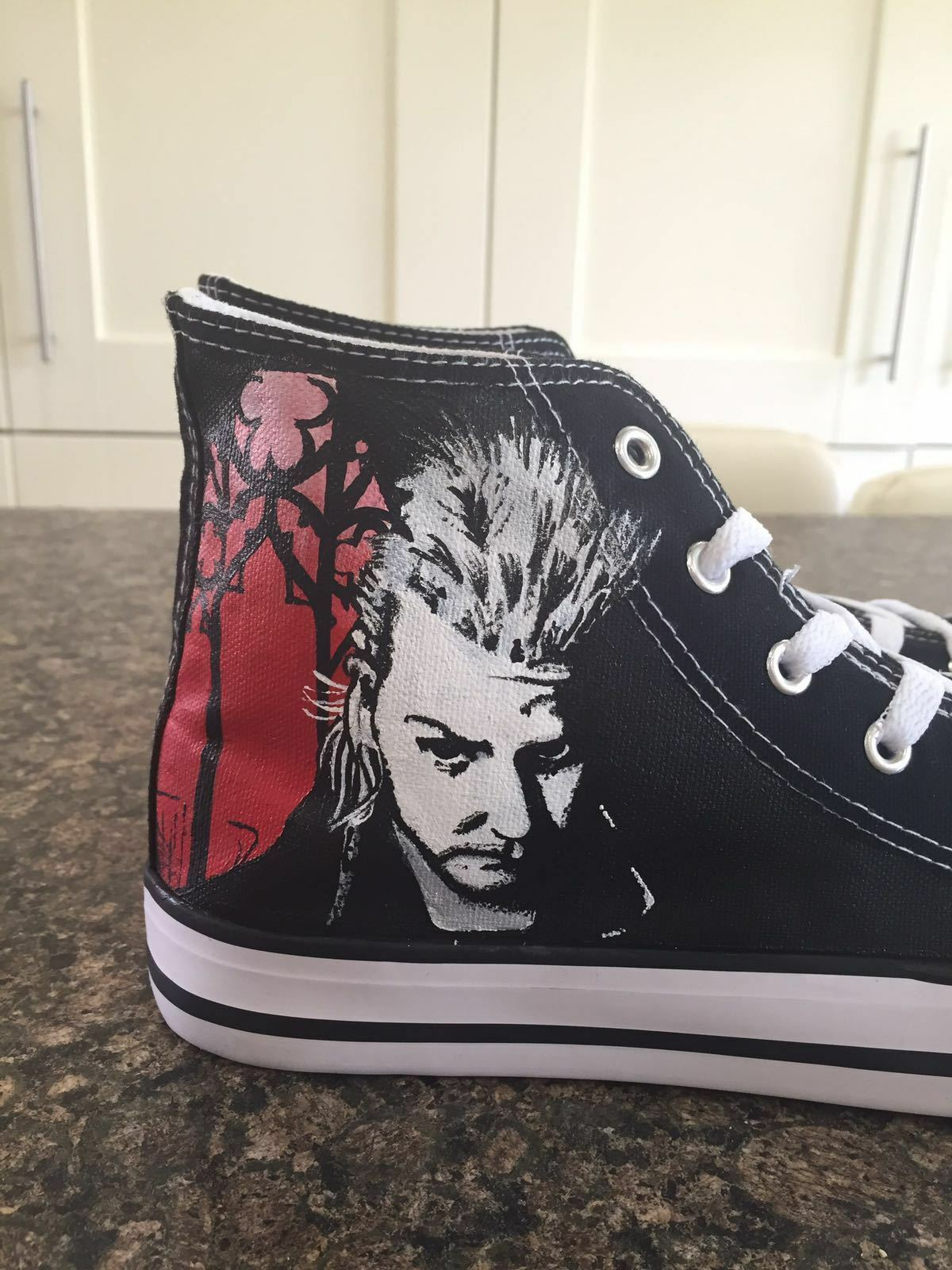 THE LOST BOYS PAINTED inspired  CUSTOM HAND PAINTED BOYS HIGH TOPS MADE TO ORDER fb1c20