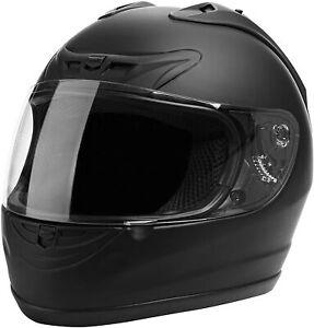 Cartman Motorcycle Modular Full Face Helmet, DOT Matte Black, Medium 901-F