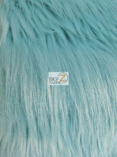 RAVEN BIRD SHAGGY FAUX FUR FABRIC Aqua Glaze BY THE YARD COSTUME CLOTHING