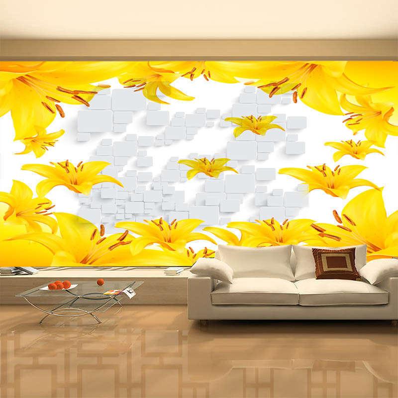 Fancy giallo Ginkgo 3D Full Wall Mural Mural Mural Photo Wallpaper Printing Home Kids Decor 6ab3ce