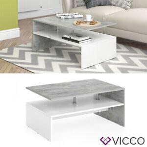Détails sur Vicco table basse Amato table de salon béton blanc console  table d'appoint
