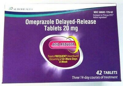 Otc Card Items List 2020.Aurohealth Omeprazole 20mg Delayed Release Tablets 42 Tablets Exp 03 2020 358602729622 Ebay