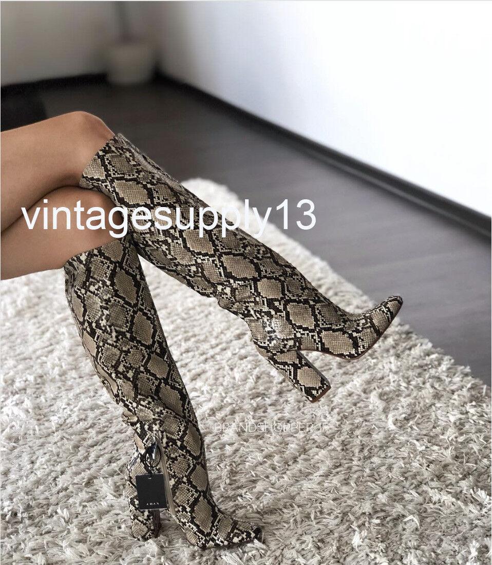 marchi di stilisti economici ZARA NEW Donna SNAKESKIN PRINT HEELED stivali stivali stivali BLOGGERS FAVORITE 35-42 7006 301  economico e di alta qualità