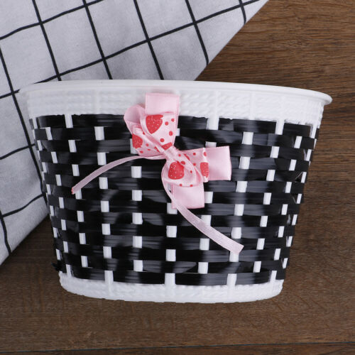 Bicycle Basket Front Bag Bike Bowknot Front Basket For Children Girl cycli CWUS