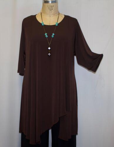 Juan Size Lagenlook Brown 4x Knit Oberteil 3x amp; Coco 60 Traveller Asymmetrisches Plus B aBH5wIq