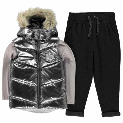 Character Gilet Set Girls Light Quilt Sleeveless Jacket Full Length Sleeve