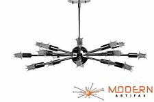 Sputnik Lamp Atomic Starburst Light Mid Century Modern Eames Chrome Chandelier