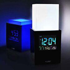 YUBZ Mood-Light Elevator schwarz m. Touch Light LCD-Display Uhr LED-Licht Wecker