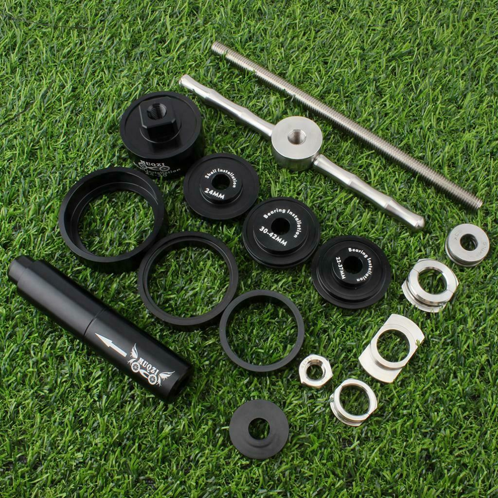 Auriculares Profesionales Bicicleta Soporte inferior herramienta de soporte inferior Instalador & Paño limpio